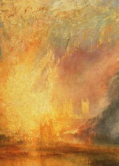 J. M. W. Turner, The Burning of the Houses of Lords and Commons (detail), 1834-5