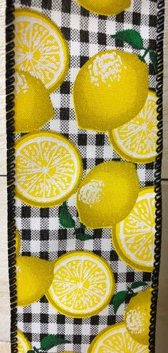 Excited to share this item from my #etsy shop: Lemon Black White Check Wired Ribbon, Lemons on Check Wired Ribbon, Lemon ribbon, ribbon by the yard, check ribbon, 841-40-110 #hatmakinghaircrafts #canvas #white #black #waysidewhimsy #wreathsbyrobin Ann Wood, White Ribbon, Hat Making, Summer Wreath, Easter Bunny, Grey And White, Chevron, Lemon, Wire