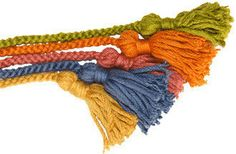Cómo tejer un cordón con los dedos.  Paso a paso de tejiendoperu.com