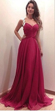 US$133.29-Sexy Sleeveless Chiffon Ruched Sweetheart Red Long Prom Dress with Open Back. http://www.doriswedding.com/a-line-princess-sleeveless-chiffon-ruched-sweep-brush-train-sweetheart-dresses-p318085.html.  Free custom made service of any dress design & Free Shipping! Sequin prom dress, beaded prom dress, vintage prom dress 2016, two-pieces prom dress, satin prom dress, long prom dress, elegant prom dress, follow us to get more special offer! #DorisWedding.com