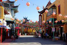 China Town main plaza - Chinatown, Los Angeles