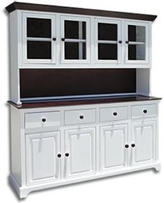 Whitewood Industries H-4 hutch and B-4 buffet