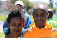 legends marathon 2014 prizegiving, Firegent Mandfredo with Lusapho April Eritrean, Marathons, Athlete, Legends, Marathon