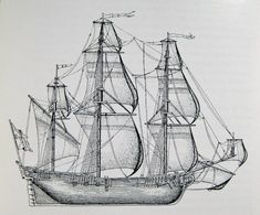 Old Ship Drawing Drawing reconstructing hms
