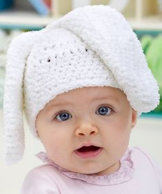 Bunny Hat Crochet Pattern | Red Heart
