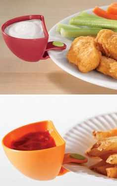 Dip Plate Clips <3 Brilliant! {great for game day}
