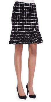 Kenzo Square Knit Crewneck Sweater and Square-Print Flare-Hem Skirt Corporate Attire, Trumpet Skirt, Work Skirts, Clothes Horse, Flare Skirt, Kenzo, Dress Skirt, Style Inspiration, My Style