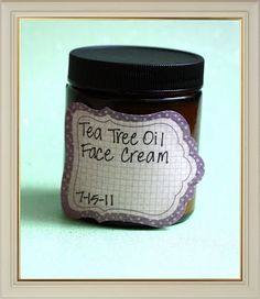 DIY Tea Tree Oil Face Cream Recipe