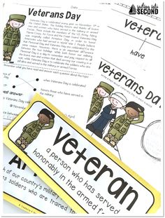 Looking for meaningful Veterans Day activities? In this pack, you'll find many activities to help you teach your students about Veterans Day!