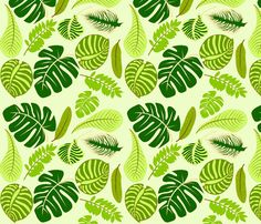 Jungle Leaves fabric by lucky_lucille on Spoonflower - custom fabric