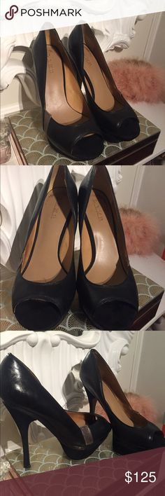 L.A.M.B shoes/heels/pumps. Size 10 Size 10 in good condition. Black leather & suede. Bought them last year for $300 L.A.M.B. Shoes Heels