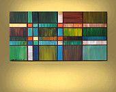 ABSTRACT ORIGINAL Painting Acrylic Impasto Large 24X48  Modern Art By Thomas John