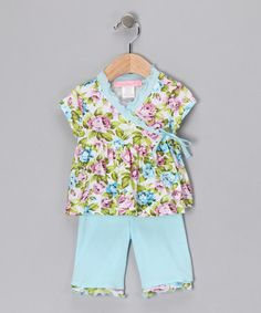 Take a look at this Light Blue Fairy Tales Wrap Top & Leggings - Infant by Baby Nay on #zulily today!