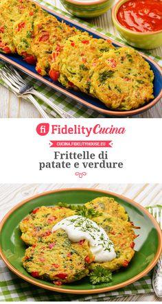 Frittelle di patate e verdure