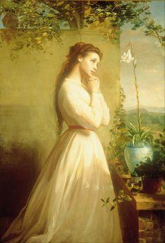 The Dead Flower ( 1868) by Manuel Ocaranza (1841 - 1882). Oil on canvas.