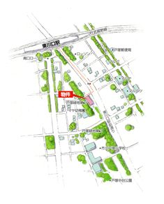 A-3.デザインマップ(水彩) - 地図作成のワークスプレス