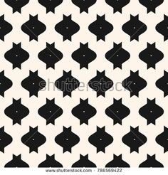 Funky vector seamless pattern with simple geometric shapes. Abstract monochrome geometric texture. Stylish black and white repeat background. Design for decoration, textile, fabric, manufacturing
