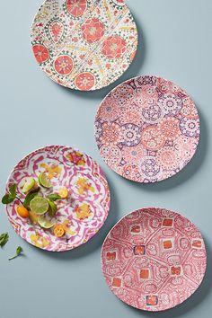 Slide View: 1: Tula Melamine Dinner Plate Set $40 (red)