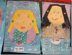 "Fabulous Mother's Day project idea!  Students make a portrait of their mom, and put character traits on it.  Plus they have to ""shop"" for the items to put on their moms-- incorporates math!"