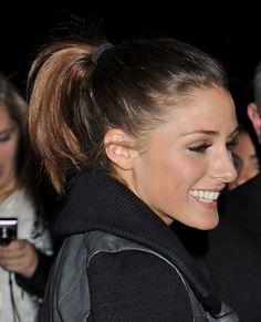 Olivia Palermos playful, ponytail hairstyle