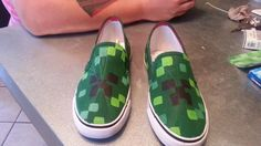 made the mindcraft shoes since i could not find any