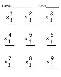 Give a like for free Multiplication Printable Worksheets ...