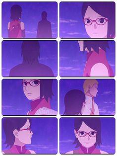 Naruto comforts and gives Sarada reassurance ❤❤❤ Sarada Uchiha, Naruto Shippuden, Boruto Next Generation, Epic Story, Otaku Anime, The Help, Cartoons, Fans, Hero