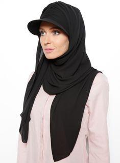Magnet Bonnet Hat Shawl - Black - Tulipa Turban cheap, good quality and a t . Iranian Women Fashion, Turkish Fashion, Muslim Fashion, Modest Fashion, Hijab Fashion, Girl Fashion, Fashion Outfits, Turban Hijab, Hijab Dress