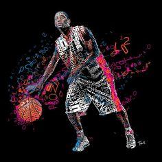 London Olympics 2012 - typographic art. basketball