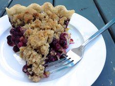 Blueberry Crumble Pie, Apple Crumble Pie, Fruit Crumble, Crumble Recipe, Easy Pie Recipes, Tart Recipes, Healthy Dessert Recipes, Baking Recipes, Delicious Desserts