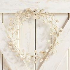Crafted of metal and inspired by the classic laurel crown, our hand-painted fall wreath brings simple elegance indoors or out. Hang it on your door. Lean it against the mantel. Or feature it in a centerpiece. Fall Door Decorations, Thanksgiving Decorations, Fall Decor, Metal Pumpkins, Glass Pumpkins, Fall Table, Simple Elegance, Fall Wreaths, Wreaths For Front Door