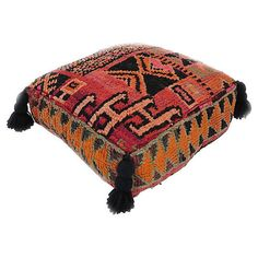 Pre-Owned Moroccan Taznakht Pouf (€630) ❤ liked on Polyvore featuring home, furniture, ottomans, moroccan furniture, secondhand furniture, second hand furniture, moroccan ottoman and moroccan footstool