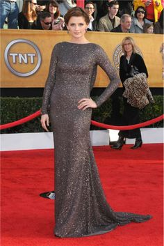Stana Katic at the 2010 Screen Actors Guild (SAG) Awards in Los Angeles on January 23, 2010