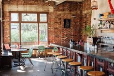 Coolest Restaurant/Bar in Charleston, South Carolina: Xiao Bao Biscuit Vietnamese, Chinese, Japanese Asian Eclectic in an old filling station - cool design and atmosphere - Brooklyn vibes - vegetarian