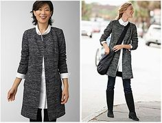 j jill tweed coat $99