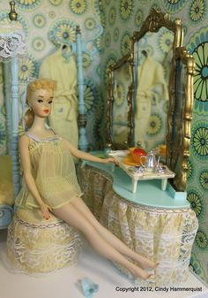 BARBIE has a new decor in her Modern Home, Love the Colors of her new Retreat :)