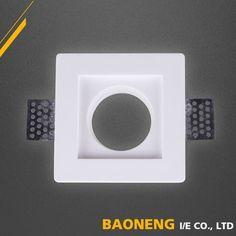 100*100mm White GypsumTrimless Ceiling Spot light Indoor Wall Light