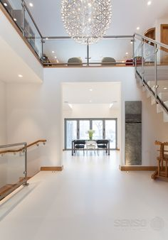 Love the view of this London home - Senso resin floor uniting the whole space.