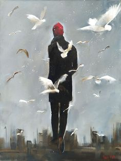 We Wanderers - Quality South African art for sale Awesome Art, Cool Art, African Art For Sale, African Art Paintings, Dress Painting, South African Artists, Figurative Art, Contemporary Art, Canvas Art