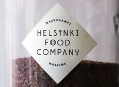 Logo and jar label for Helsinki Food Company designed by Werklig