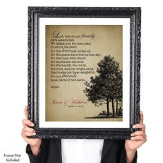 The WEDDING Prayer by Robert Louis Stevenson, Personalized Christian Wedding Tree Art Print, Unique Wedding Gift for Wife Husband Parents Bridesmaid Wedding Prayer, Wedding Readings, Cheap Wedding Gifts, Personalized Wedding Gifts, Tree Wedding, Church Wedding, Diy Wedding Decorations, Wedding Ideas, Horse Silhouette