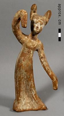 Dancing female tomb figure Dancing female tomb figure, one ofa group of three. Tang Dynasty, century, Red earthenware with traces of red, white and black pigment. Acquired Robert and Lisa Sainsbury Collection. Black Pigment, China Art, Earthenware, Sculpture, Dance, Statue, Female, Ballerinas, Dancing