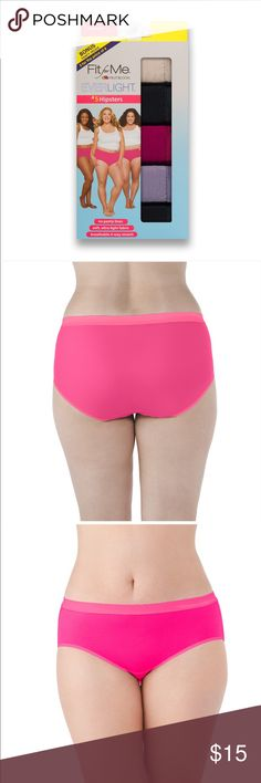 5031bc4f089 🆕Fit for Me Everlight Hipsters 5 pack NWT. Box of 5 pair. Seamless