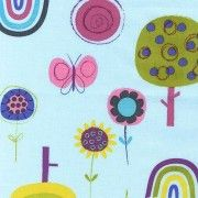 FLY AWAY TREES BUTTERFLY ROBERT KAUFMAN QUILT CRAFT FABRIC
