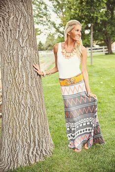 Skip a Beat Aztec Maxi Skirt - Modern Vintage Boutique