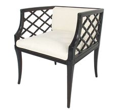 Pair of Glamorous Lattice Cube Chairs   From a unique collection of antique and modern armchairs at https://www.1stdibs.com/furniture/seating/armchairs/