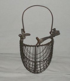 Item 4251. Very nice vintage wire mesh livestock muzzel. The muzzel is in very good condition. There are no broken or bent portions of the wire. There are a couple of the wires that have small bends, not bad. Unfortunately the leather strap has broken and needs replaced. If you have any further questions, please contact me. I would be happy to combine shipping for multiple purchases. All offers will be considered. Good luck and thanks for shopping.