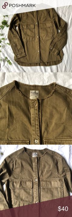 14841afd Zara Canvas Jacket Brand: Zara Labeled size: Small Condition: excellent  MATERIAL: Cotton