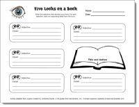 Five Looks on a Book - Quick and Easy way for students to report on or review a book