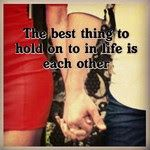 hold on to each other #marriage http://www.theoverwhelmedbride.com/